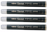 Pentel Pocket Brush Refill Pack of 4  Black Cartridges